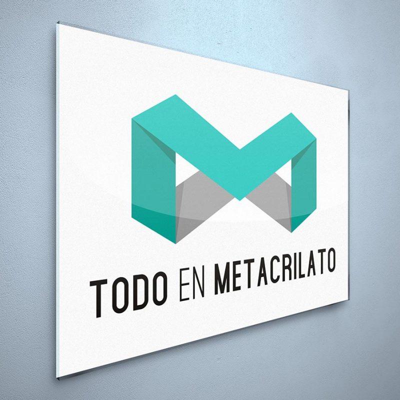 placa exterior metacrilato